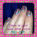 Clean Up ur Nails After Polishing!