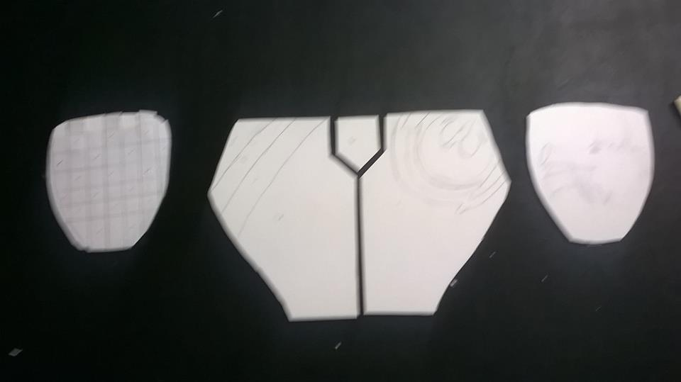 Picture of Molding the Sintra to Your Shape (shoulders and Chest)