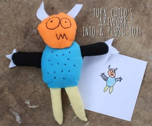 Turn Child's Artwork Into a Plush Toy!