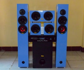 DIY 5.1 Home Theater System 700watt RMS