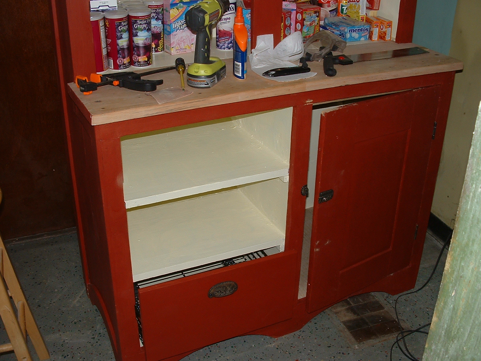 Picture of Refinishing the Cupboard to the Original Finish.