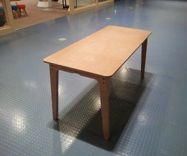 One Sheet Plywood Desk