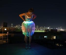 Fiber Optic Jellyfish Skirt