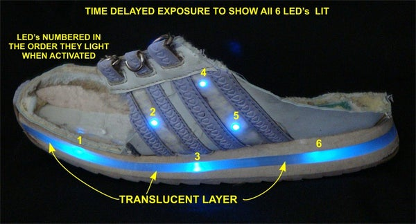 What's Inside a Flashing LED Sneaker
