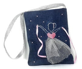 How to Make a Small Bag Reusing Old Denim Jeans?