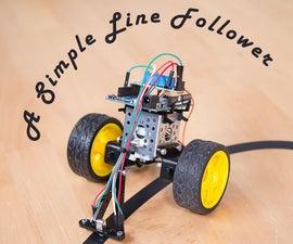 A Simple Arduino Based Line Follower