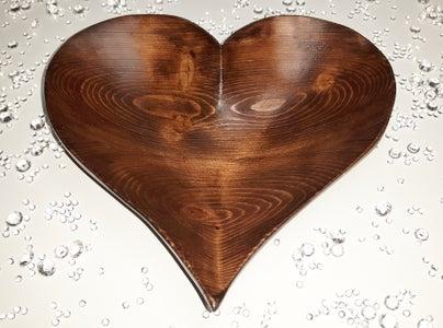 Wooden Heart Bowl