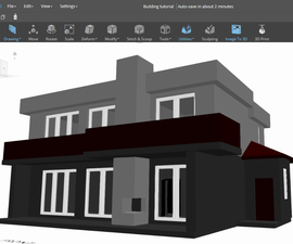 3D Building Model in SelfCAD