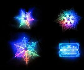 Acrylic LED Christmas Decoration