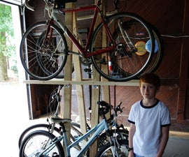 Wood Bike Rack for 5 Bikes, Fast and Low Cost Build