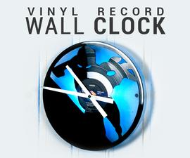 Vinyl Record Wall Clock - Iron Man