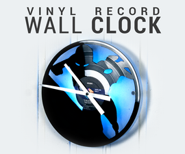 Vinyl Record Wall Clock - Iron Man