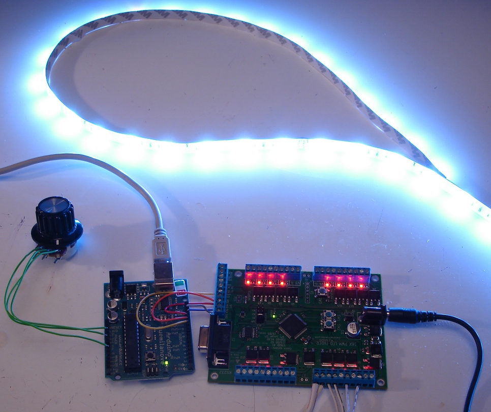 Control Ikea Dioder LED Strip With Arduino + 16X PWM LED Fader Board