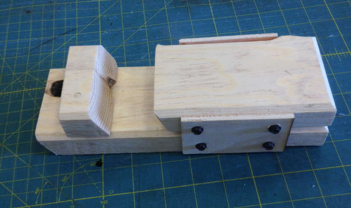 Picture of 30 Degree Drilling Jig for Coptic Binding on the Spine of Thick Covers. I Made It at TechShop