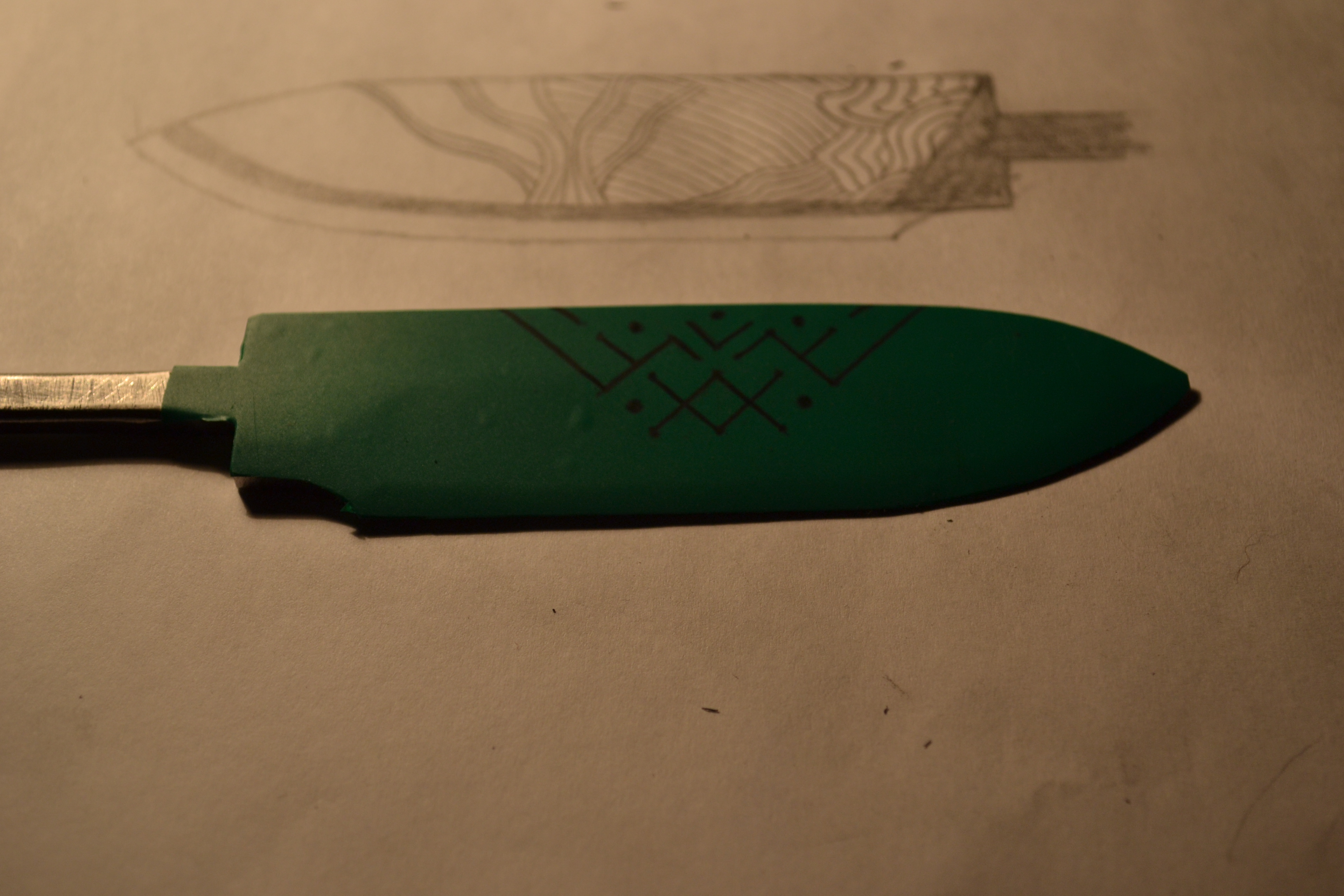 Picture of Blade Etching