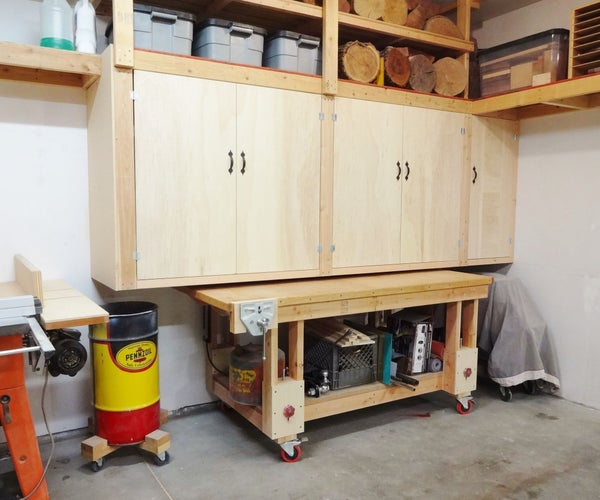 How to Build Large Workshop Cabinets