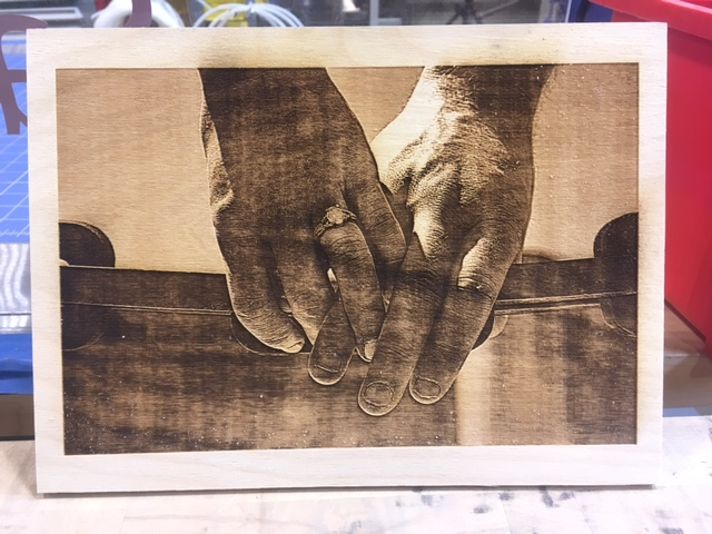 Picture of Laser Burning Pictures Into Wood