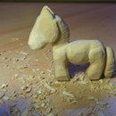 Wooden Horse Using Only Homemade Knife