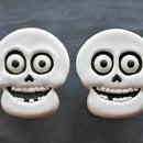 Halloween skull cookies - video tutorial