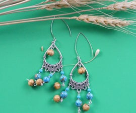 Beebeecraft Tutorials on Making a Pair of Ethnic Style Earrings