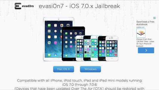 Easy One-click Jailbreak IOS 7