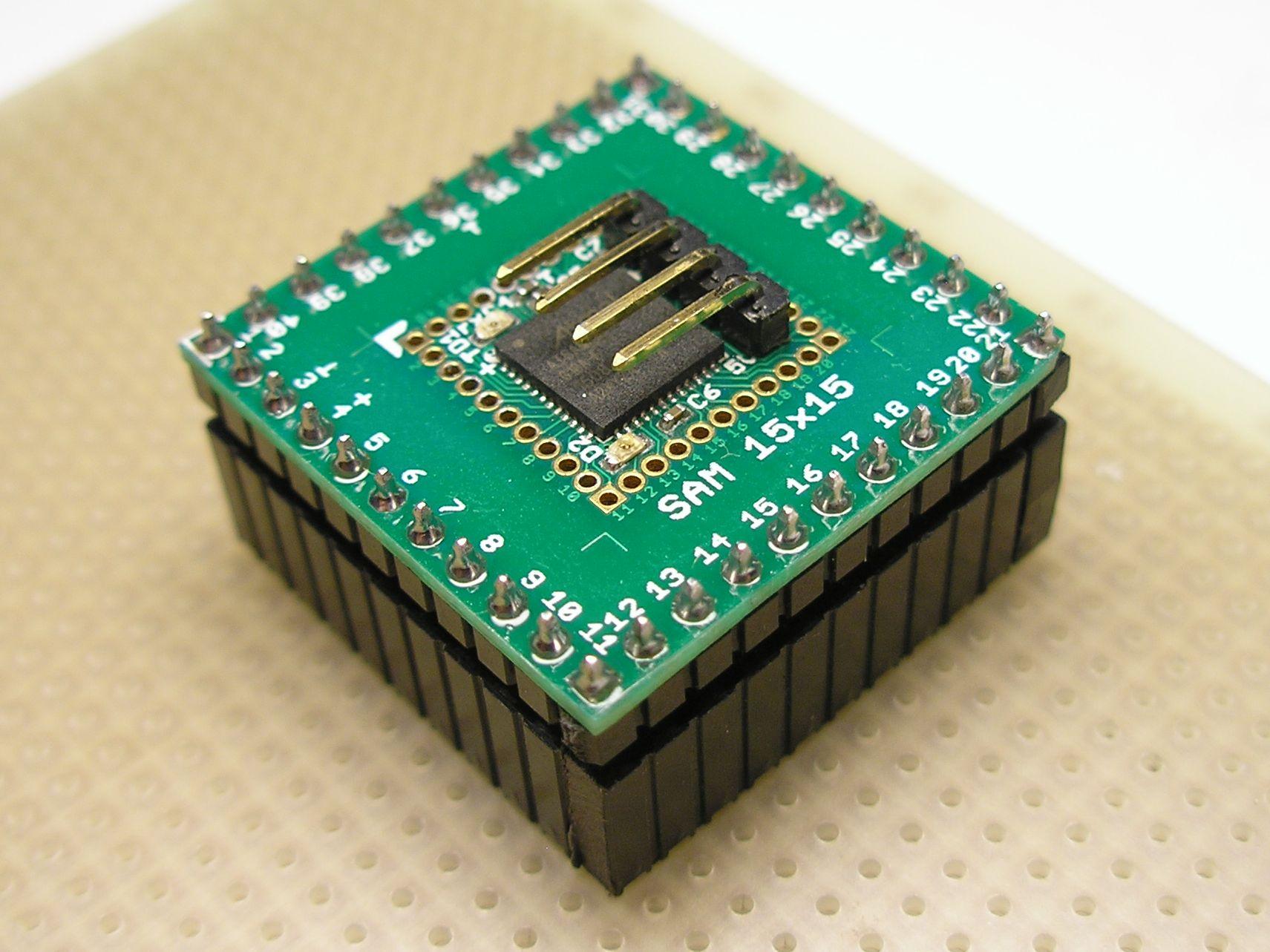 Picture of SAM 15x15 Arduino Compatible Development Board 15x15mm With SAMD21G18