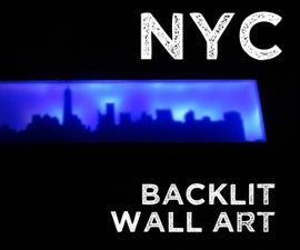 New York City Skyline LED Wall Art