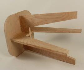 Quick Upcycled Plywood Sitting Stool