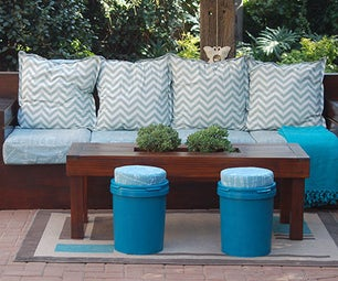 Recycled Paint Can Stools