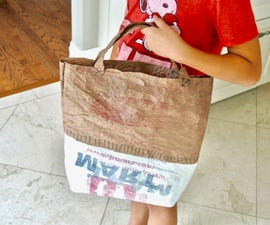 Recycled Tote From Shopping Bags