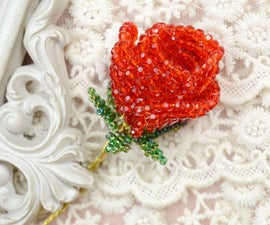 How to Make a 3D Red Beaded Rose for Girlfriend As Valentine's Gift