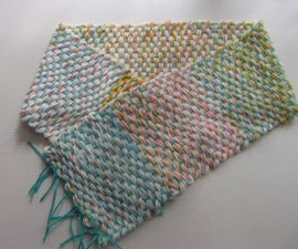 Weave a Kid's Scarf in Home-made Loom