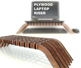 Interlocking Plywood Laptop Riser
