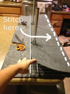 Upholster the Shelf - Sew on the Carpet
