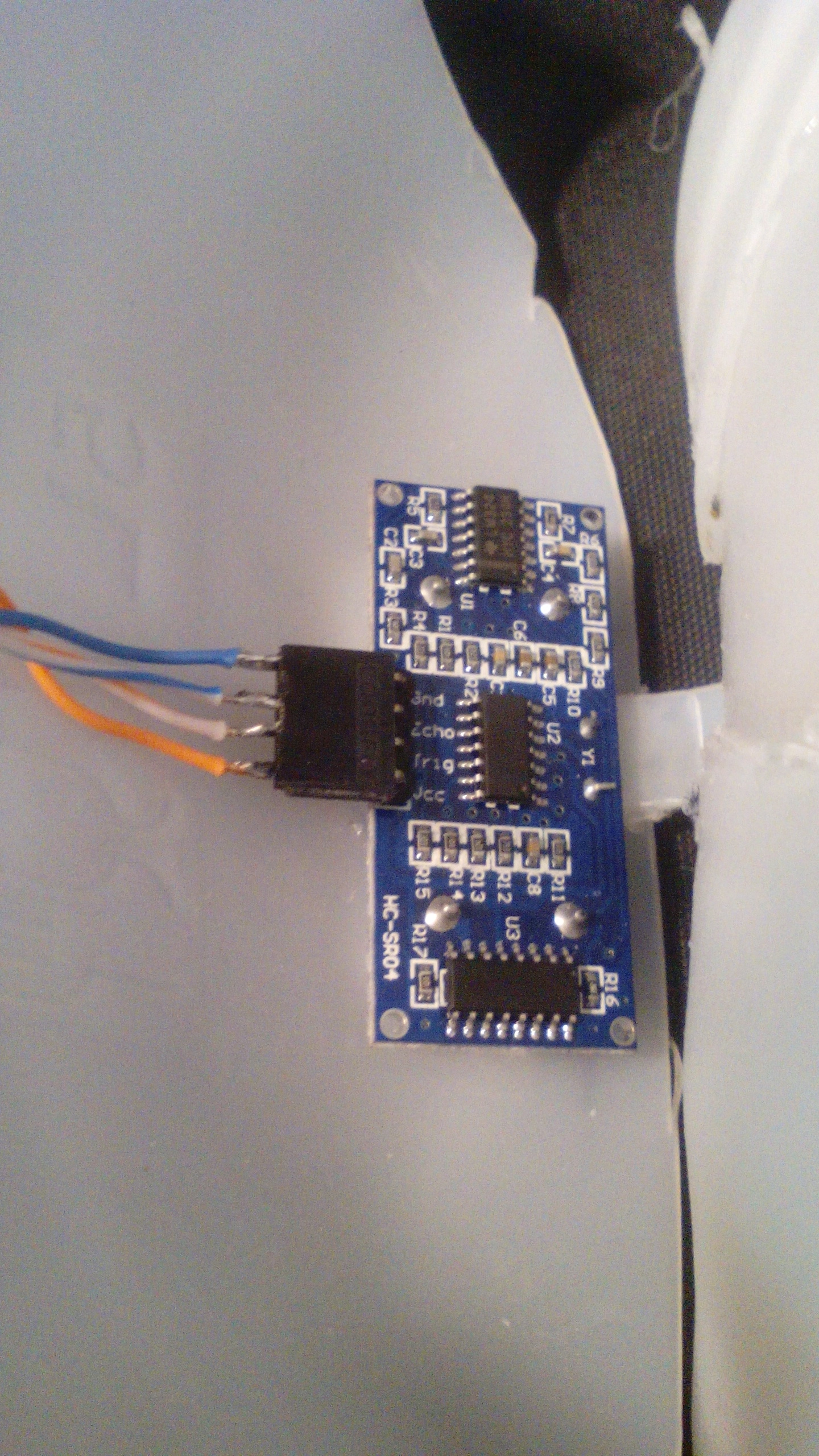 Picture of Cut the Holes for the Ultrasonic Sensor