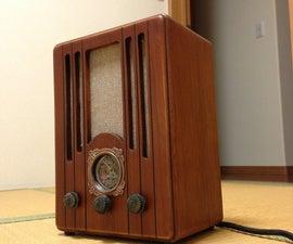 Bluetooth tube radio project - opus2 - Japanes pre-war-era's radio Tombstone shape