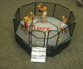 Magnetic UFC Ring with swinging door (made out of K'nexs)