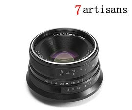 Adapt a Cheap M4/3 Prime Lens (7artisans) to Fit an Olympus OM-D E-M10 Mark III