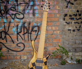 6 String Bass Guitar Made With Wood From Recycling Been