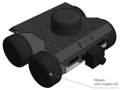 Attach the Wheels Using Hex Couplers