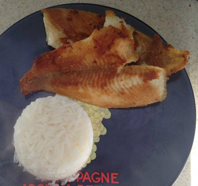Picture of Fried Fish and Steamed Rice