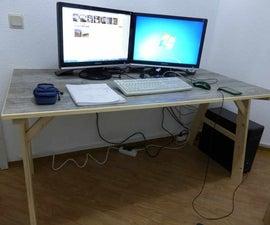 DIY Desk With Vinyl  Flooring Top