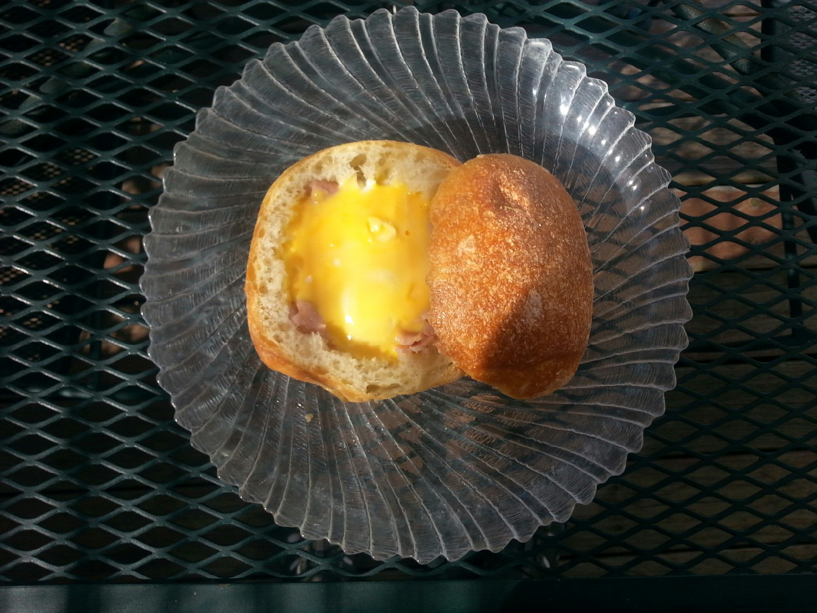 Picture of Campfire Ham, Egg & Cheese Bread Bowl