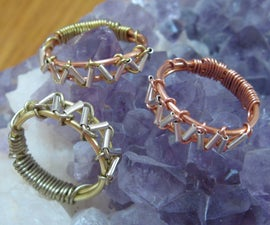 Zig Zag Wire Wrapped Ring