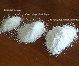 DIY: How to make Caster and Powdered Sugar