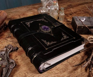 Black Magic Leather Grimoire - Bookbinding Tutorial