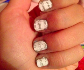 How to: Newspaper Nails!