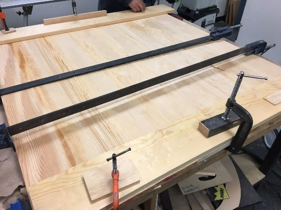 Picture of Apply Pressure So the Wood Assembly Stays in Place