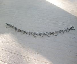 How to Make a Bracelet out of Christmas Hooks