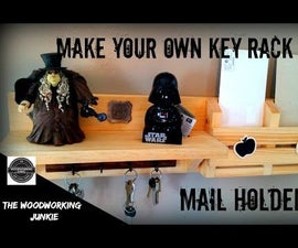 How to Make a Key Rack // Mail Holder Combo